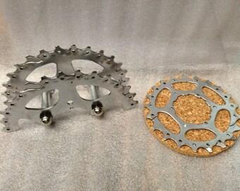Business card holder up cycled bike gear bike gear coaster set with bike gear holder colourmoves