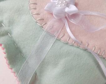 Handmade wedding ring bearer pillow
