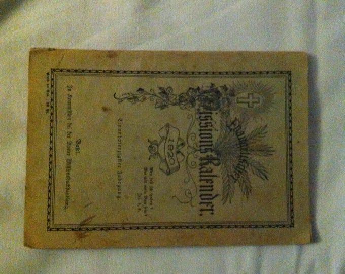 Antique Evangelischer Missions Kalender calendar 1920