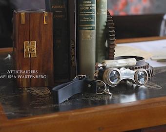 Pearl Binoculars , Opera Glasses ,  Steampunk Costume , Binocular Glasses , Bincoulars Vintage , Binocular Strap , Steampunk , Travel