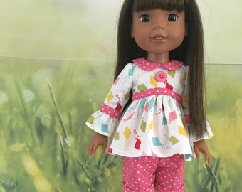 Two Shirts and a Dress PATTERN for Wellie Wisher dolls