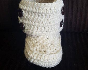 Crochet Button Boots