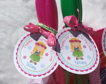 Winter Luau Tags, Luau Party, Luau Birthday, Luau Tags, Luau Decorations, Luau Favor Tags, Girls Luau Party, Favor Tags, Luau Party Favor