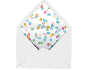 Printable Envelope Liner | Colourful Spots - Confetti | 11 Sizes | Envelope Template, DIY Wedding, Printable Invitation