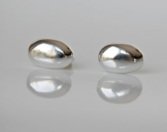 Sterling silver studs, oval, silver stud earrings, little earrings, sterling silver earrings, minimalist, tiny studs, simple jewelry, Lesia