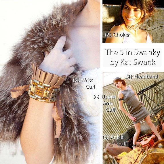 25% off SALE! GLADIATOR SWANK. The 5 in 1 Swanky by Kat Swank- Buy 1 and wear it 5 ways- headband, choker, upper arm, wrist or ankle cuff