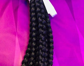 Individual handmade large Crochet braids with various colors and length all made to order
