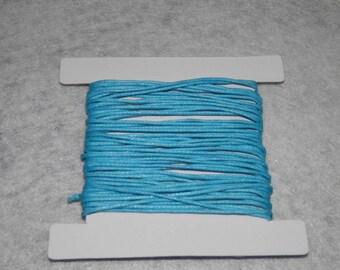 Thread cotton, 5 m x 1 mm blue