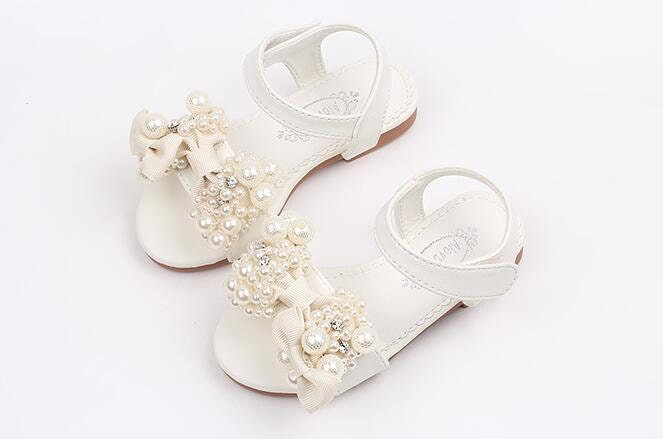 Flower girl shoes ivory off white cute girl shoes bow pearls zoom mightylinksfo