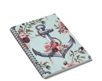 Drop Anchor Spiral Notebook