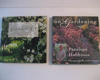 two vintage books on gardening by famous British gardeners
