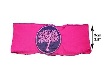 Pink tree of life woodland headband