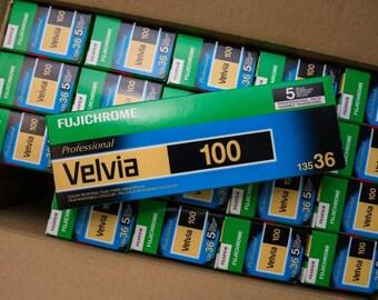 5 Rolls  - FUJIFILMFujichrome Velvia 100 Professional Color Transparency Film (FRESH 35mm FILM, 36 Exposures - Cold Stored)