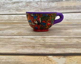 Beautiful Talavera Cup Pottery Teacup  //  Hand Made Pottery // Kitchen Decor // Home Decor  // Decorative Cup