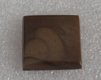 Brown Picture Jasper Stone Square Cabochon 20mm