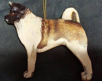 Akita dog ornament custom