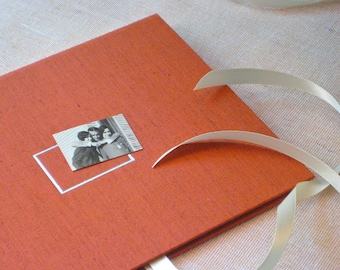 Photo Album Portfolio in Rust Orange