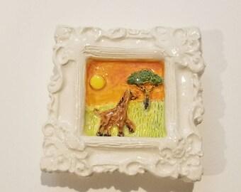 Giraffe on Safari Magnet