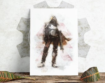 Sketch Print - Destiny - Hunter