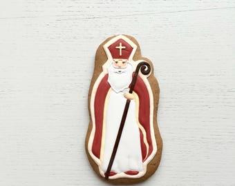 Cookies Christmas Santa Claus, Gingerbread Santa Claus