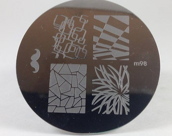 10pcs Round Nail Stamping Plates Manicure Pedicure Stamp Tool Nail Art CLEARANCE