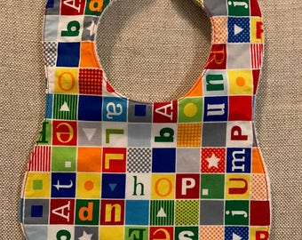 Baby Bib - ABC Word Blocks