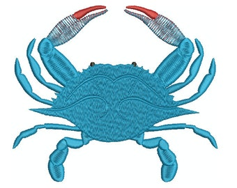 Machine Embroidery Design Instant Download - Blue Crab 3