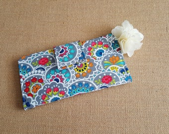 Womens Wallet, Fabric Wallet, Women's Bifold Wallet,  Floral Wallet, Paisley Wallet