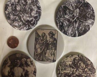 Large Albrecht Dürer pins/buttons