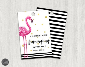 Thank You for Flamingling | Flamingo Thank You Tags | Thank You Favor Tags  (2x3.5)