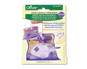 Clover Desk Needle Threader Color: PURPLE Part No. 4071
