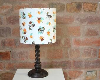Woodland nursery decor, Nursery lampshade, Woodland Animals, nursery bedside lamp, ceiling shade, handmade lamp shade, nursery decor, lamps