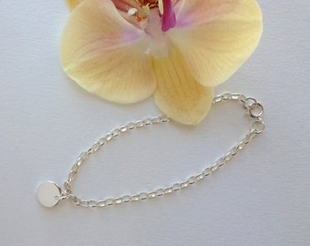 Perfect Sparkly Silver Bracelet Silver Chain, Personalized Initial Bracelet, Add Your Own Charms Bracelet Delicate Bracelet, Silver Jewelry