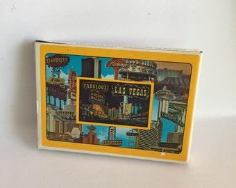 Las Vegas Jumbo Playing Cards Plastic Coated Sealed in Box