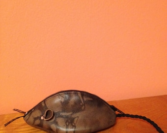 Leather Mouse Change Purse