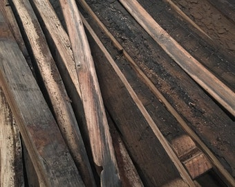 Reclaimed Used Whiskey Barrel Staves