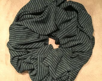 The Traveling Scarf - Striped Black and Sage (Short & Long)