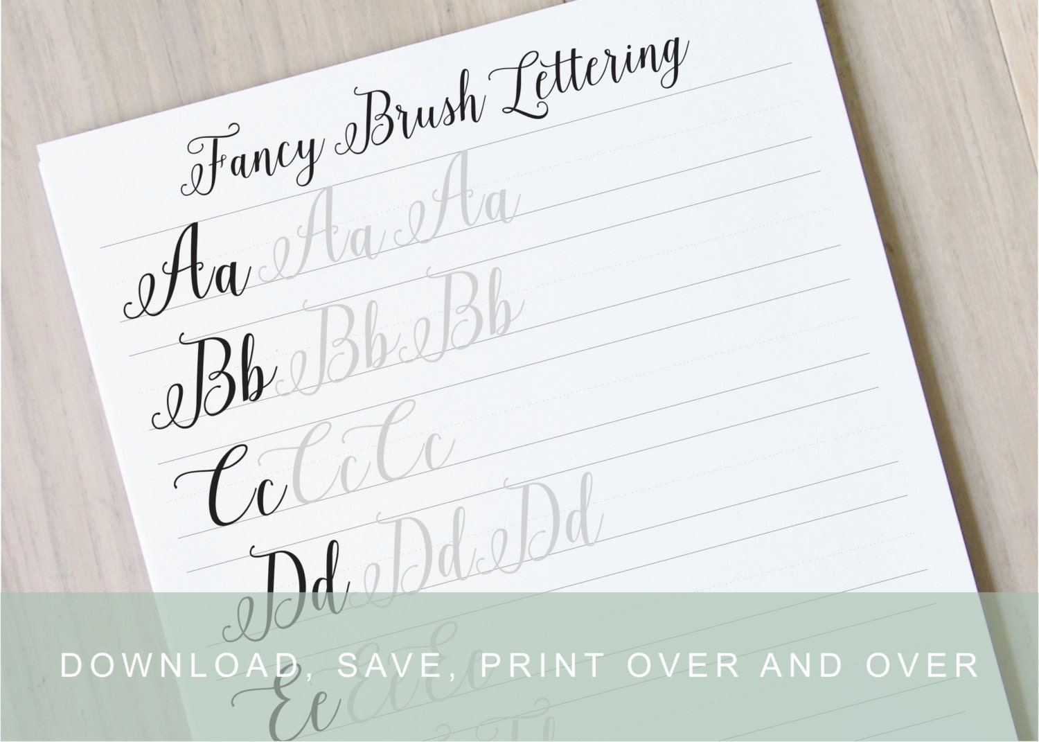 Fancy brush calligraphy lettering worksheets calligraphy Calligraphy pages