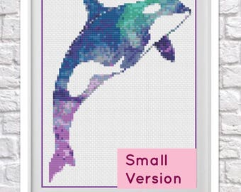 Galaxy Orca Small Version Counted Cross Stitch Chart