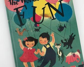 1951 The Wonder Book of Fun - Poems by Ilo Orleans - Illustrated bu Dellwyn Cunningham