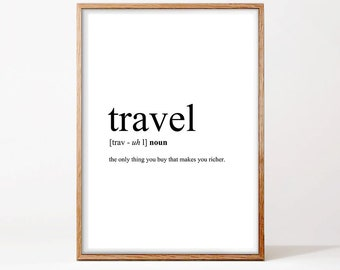 Travel Definition Printable Travel Quote Printable Word Word Poster Travel Word Art Typography Wall Art Travel Instant Download  sc 1 st  Etsy & Travel Definition Printable Travel Quote Word Poster Travel