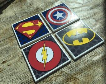 Single Superhero Ceramic Coaster