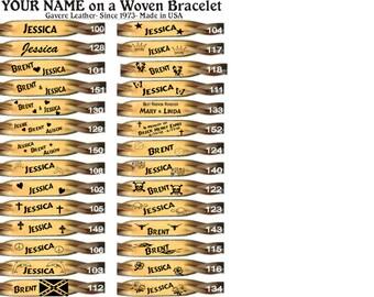 Woven Leather Bracelets