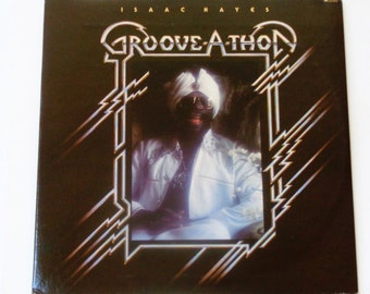 Isaac Hayes - Groove-A-Thon with Poster - Funk/Soul - ABC Records 1976 - Vintage Gatefold Vinyl LP Record Album