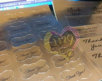 Custom Stickers Gold Foil, Silver Foil, glossy or Clear (100 ct) 2.5 iinches and smaller