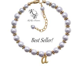 Gold Baby Bracelet Toddler Jewelry Custom Girl Bracelet Personalized Girl Gift Little Girl Jewelry FREE Gift Box Keepsake Baby Gift