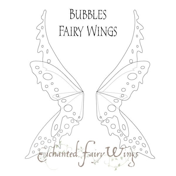 PATTERN and tutorial for fairy wings Bubbles Large