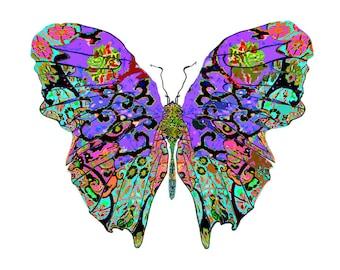 11x14 Lavender Lanes Butterfly Print