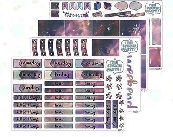 Galaxy Planner Sticker Kit for Erin Condren Vertical Life Planner