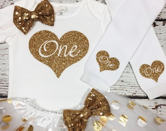 Birthday girl outfit,White and Gold One Birthday outfit,White and gold Baby girl birthday outfit,polka tutu,white and gold  smash cake